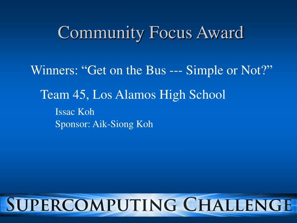 Community Focus Award