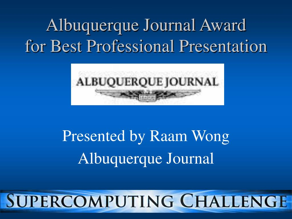 Albuquerque Journal Award