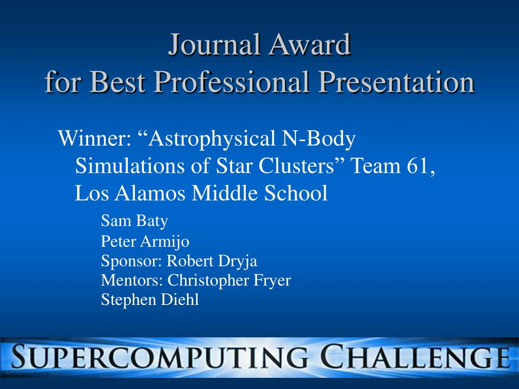 Journal Award