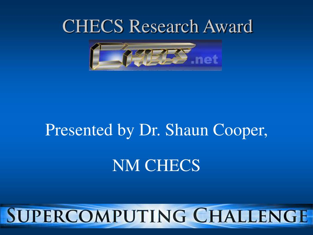 CHECS Research Award