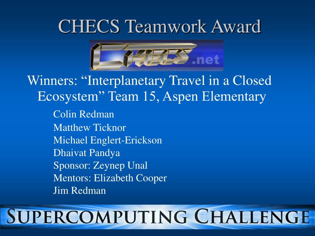 CHECS Teamwork Award