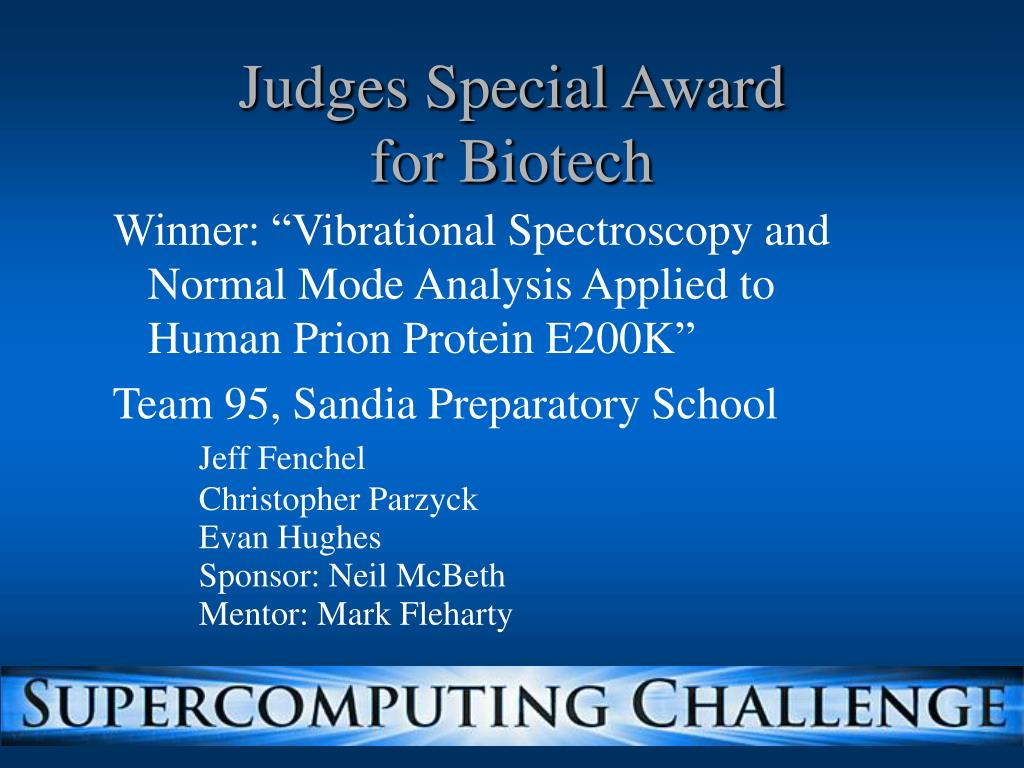 Judges Special Award