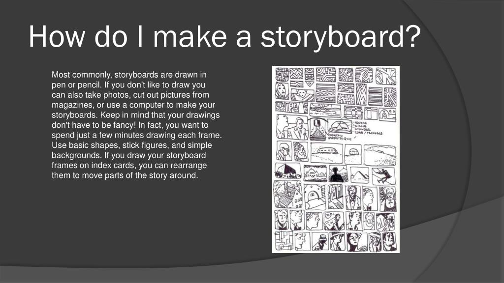 How do I make a storyboard?