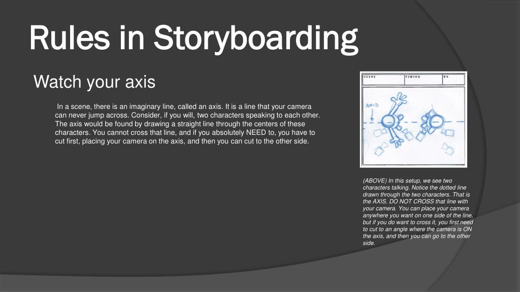 Rules in Storyboarding