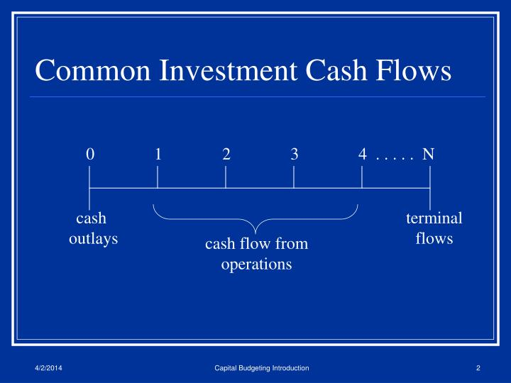 Common investment cash flows