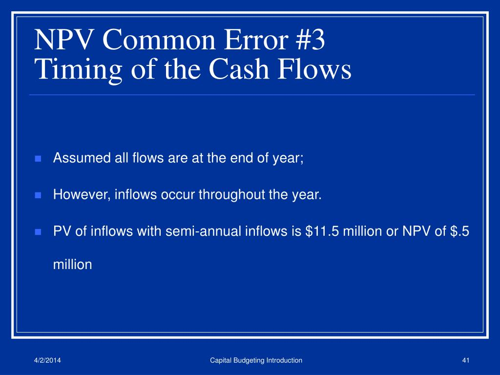 NPV Common Error #3
