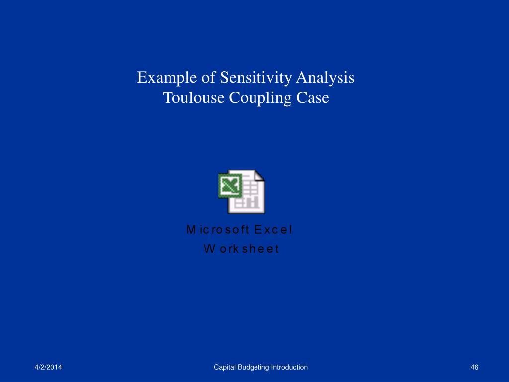 Example of Sensitivity Analysis