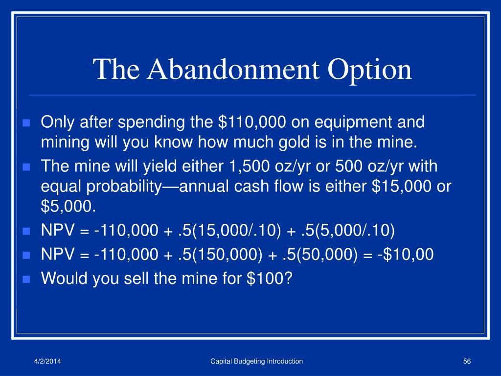 The Abandonment Option
