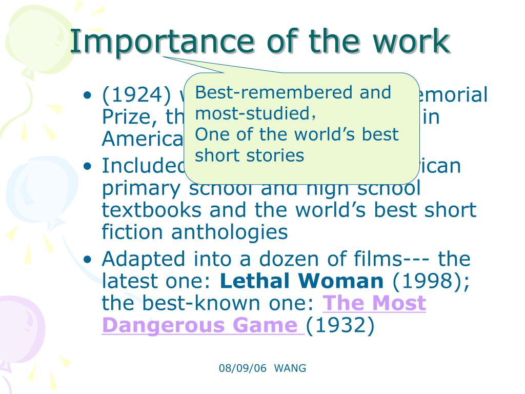 Importance of the work