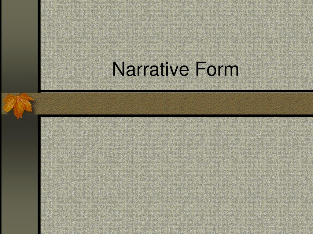 Narrative Form