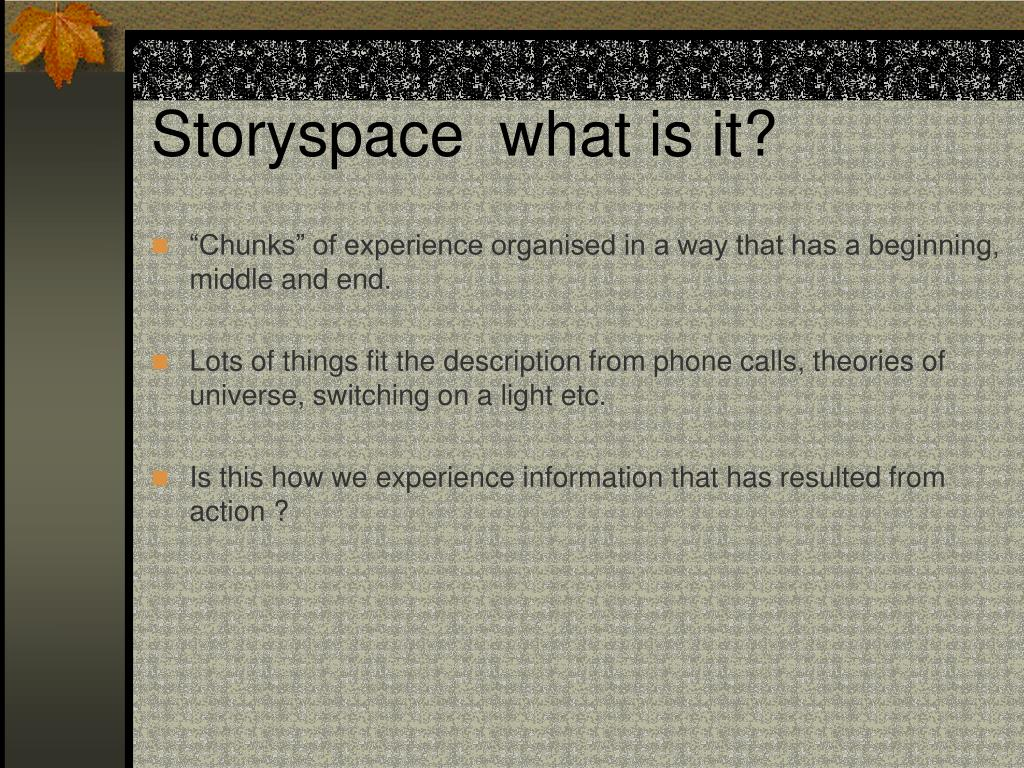 Storyspace  what is it?