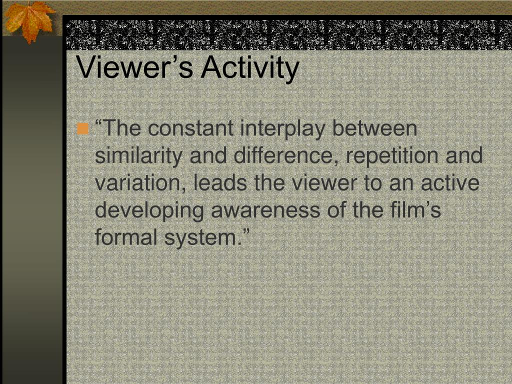 Viewer's Activity