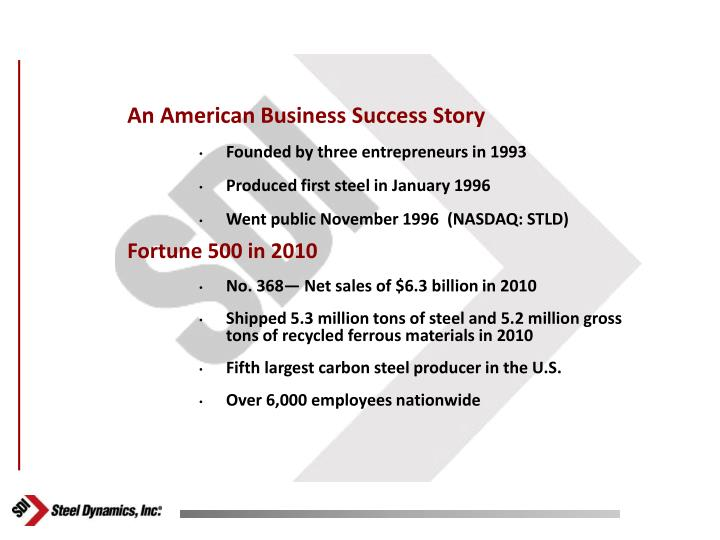 An American Business Success Story