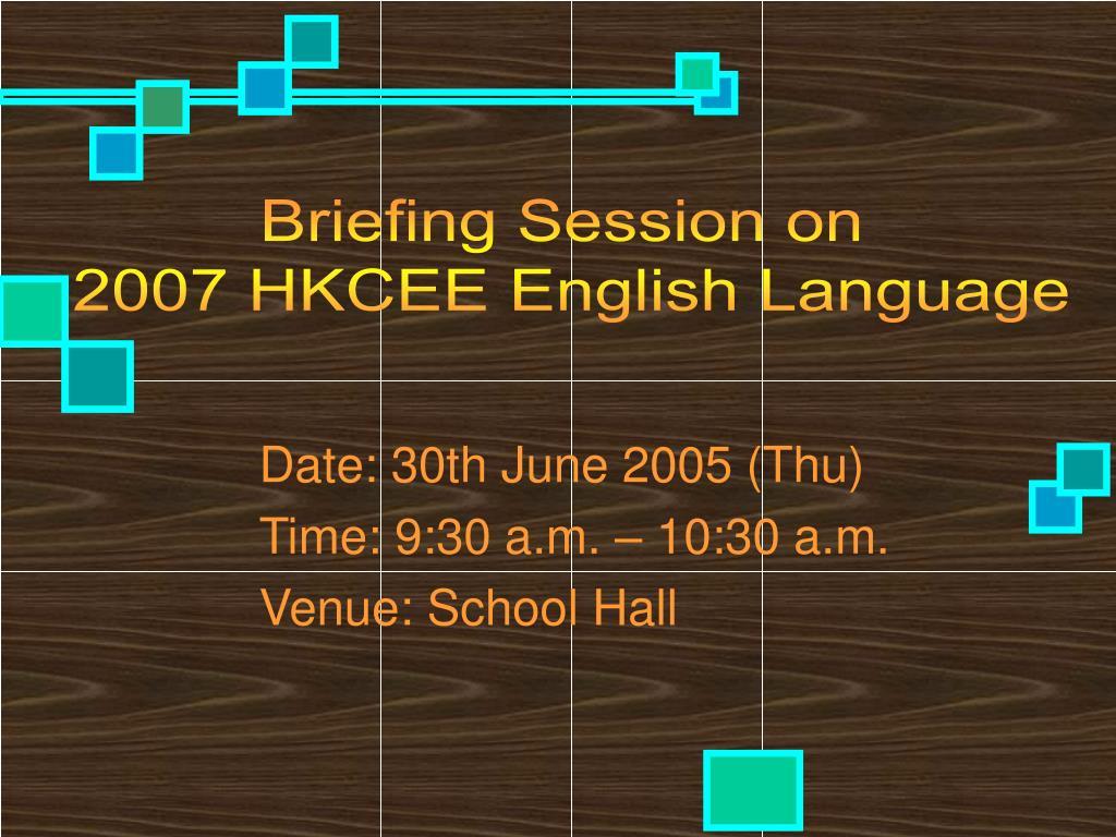 date 30th june 2005 thu time 9 30 a m 10 30 a m venue school hall