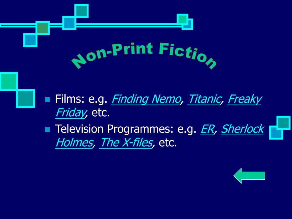 Non-Print Fiction