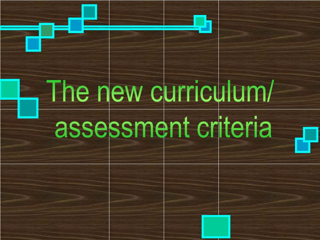 The new curriculum/