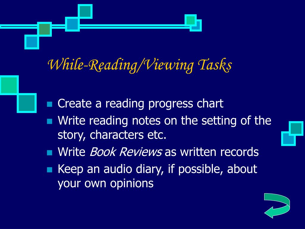 While-Reading/Viewing Tasks