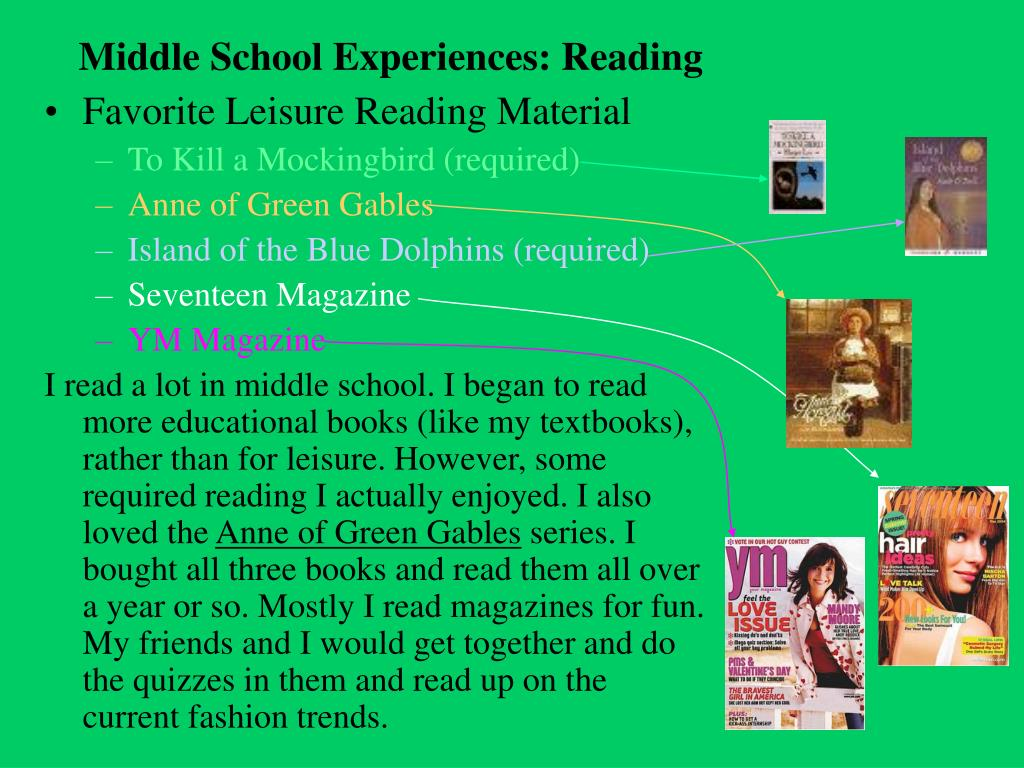 Middle School Experiences: Reading