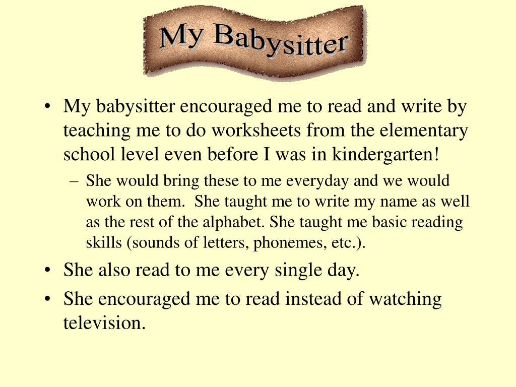 My Babysitter