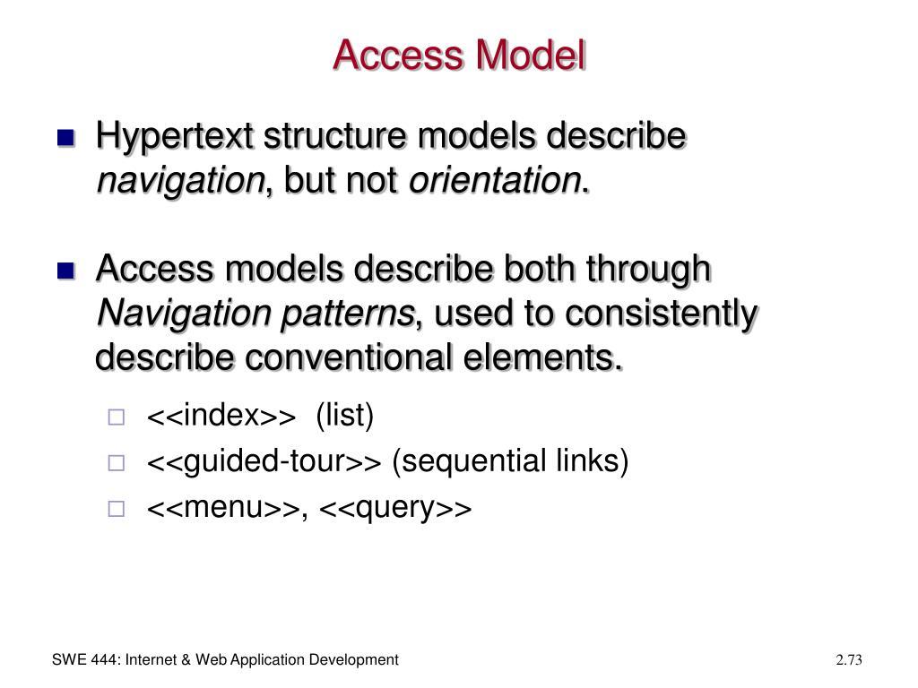 Access Model