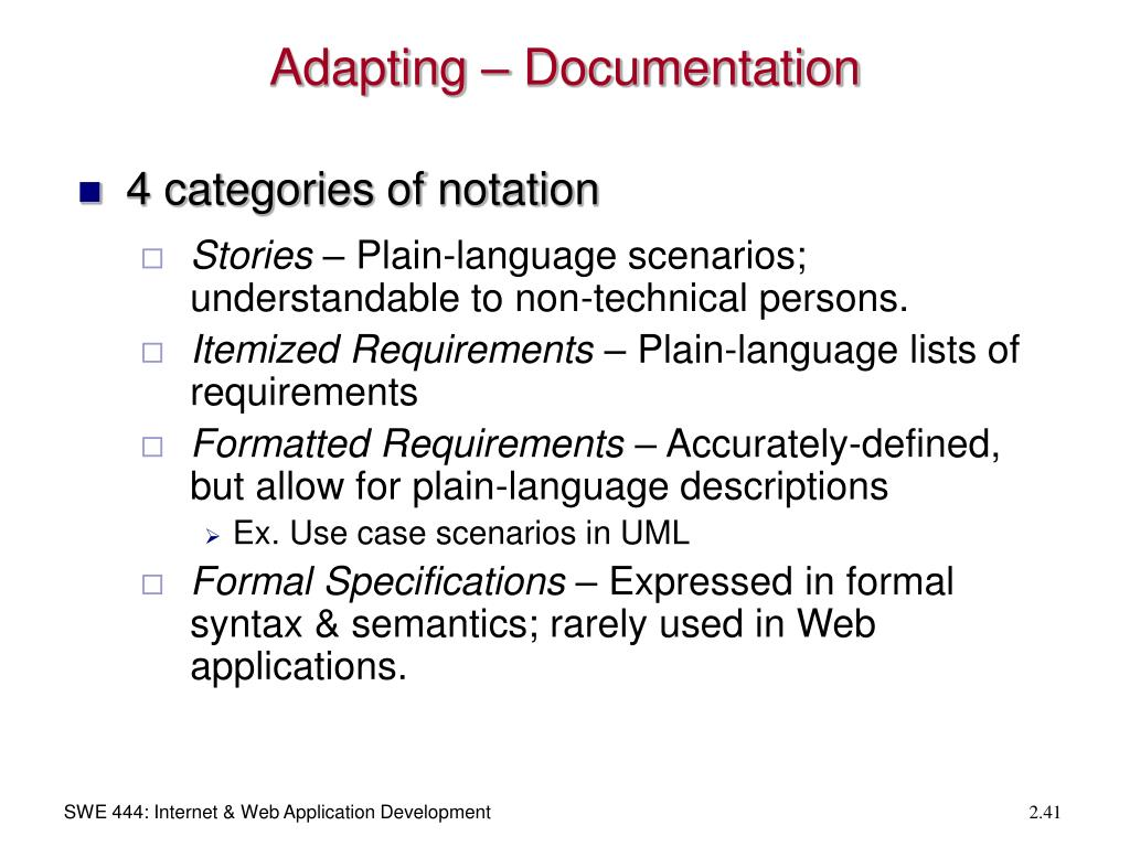 Adapting – Documentation