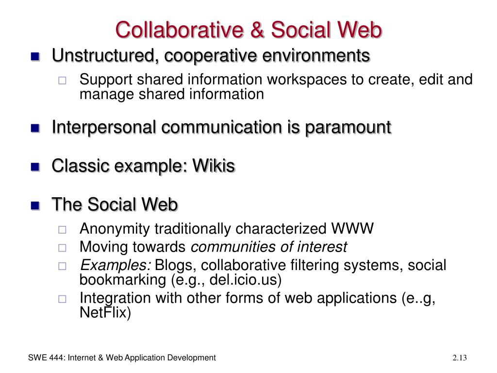 Collaborative & Social Web