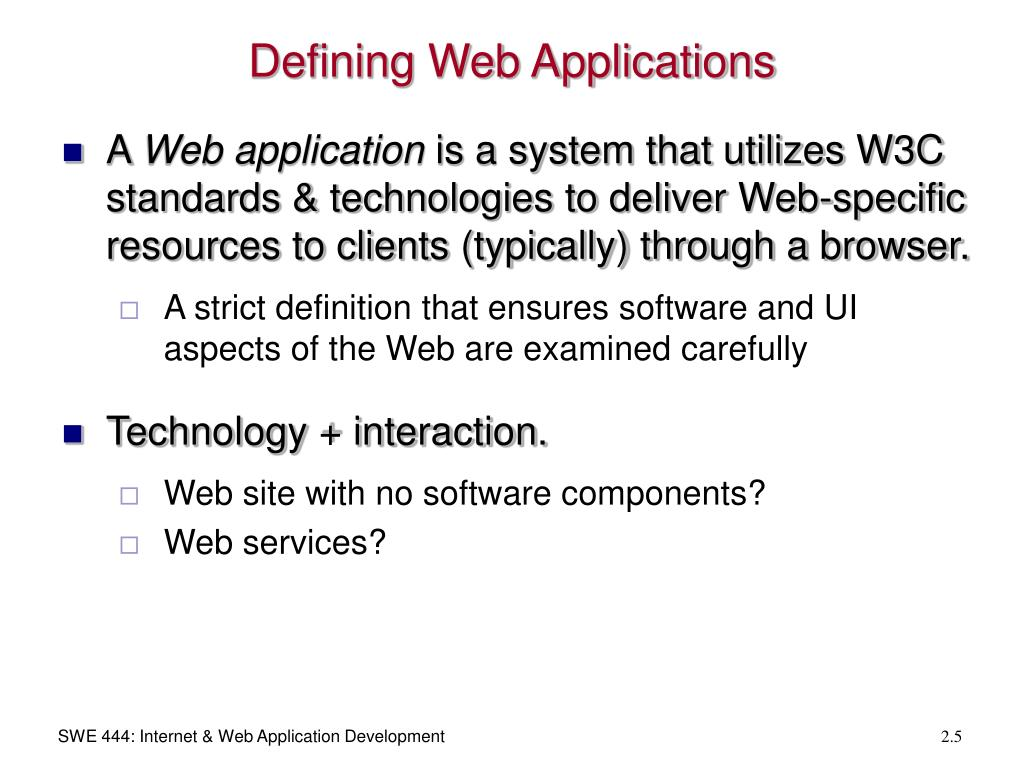 Defining Web Applications
