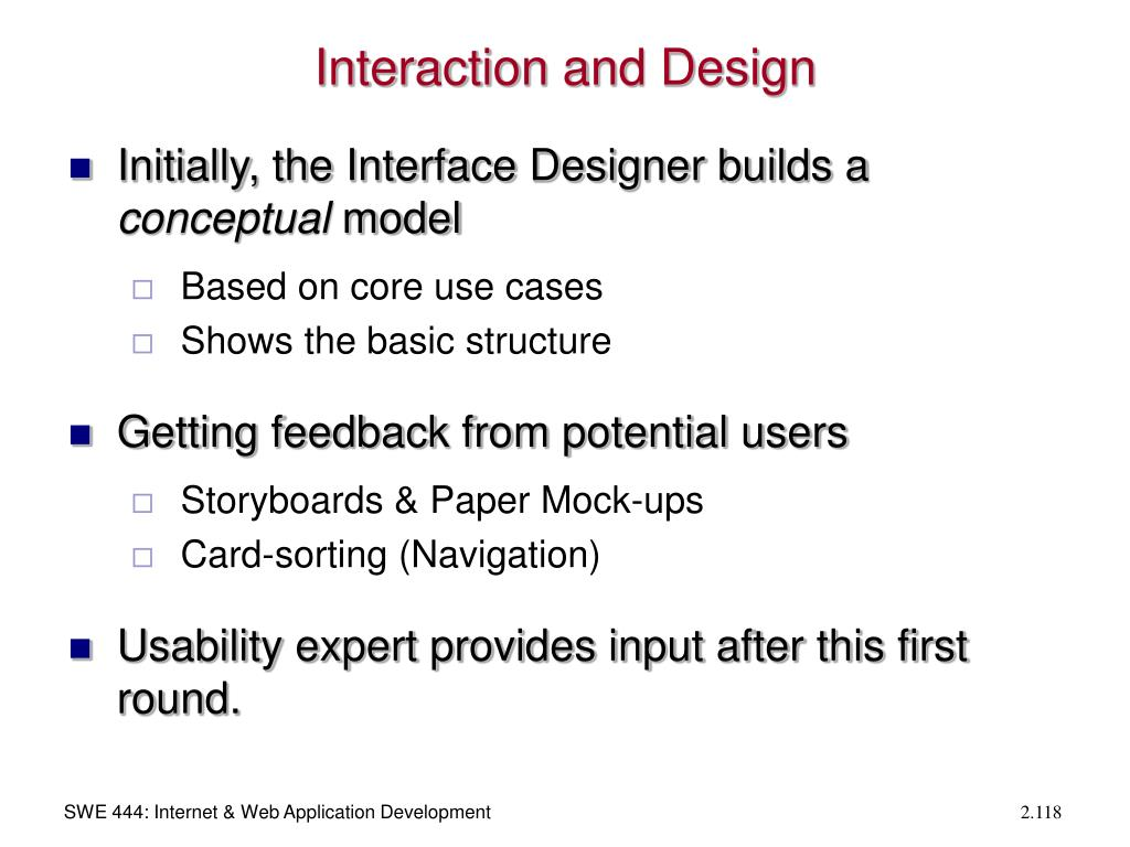 Interaction and Design