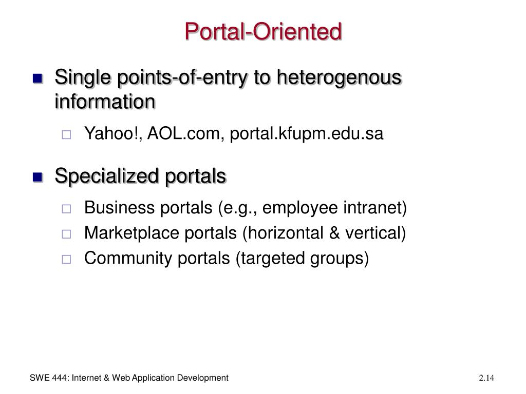 Portal-Oriented