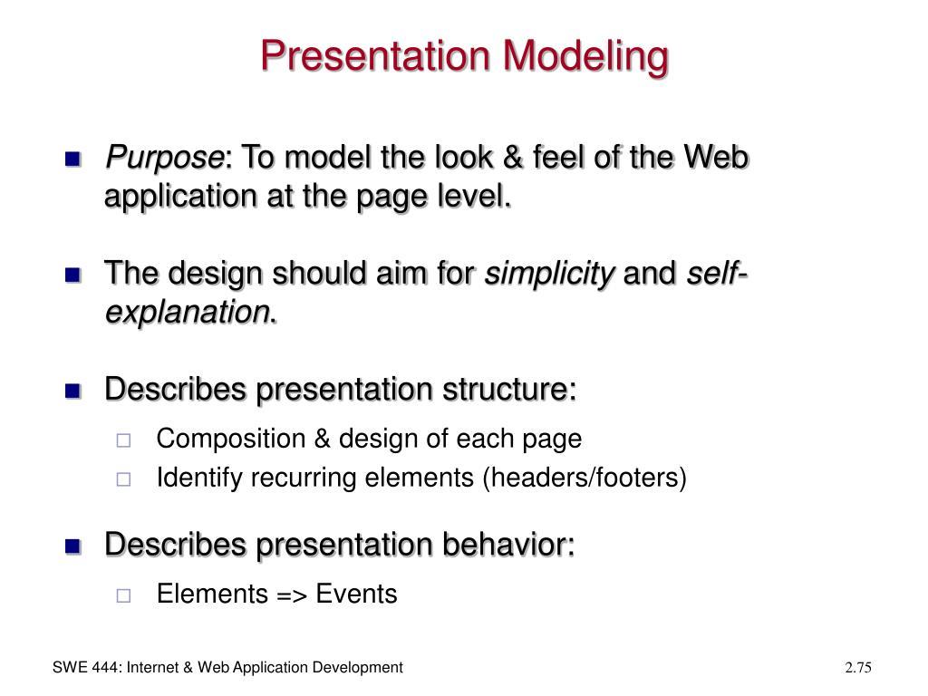 Presentation Modeling