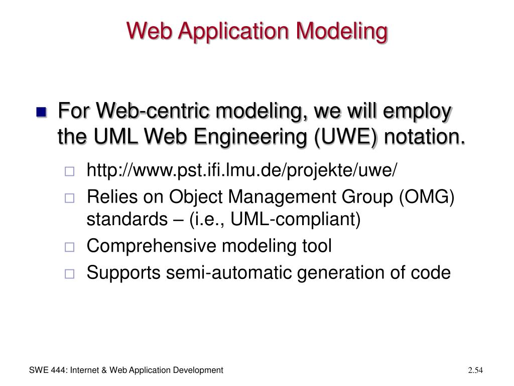 Web Application Modeling