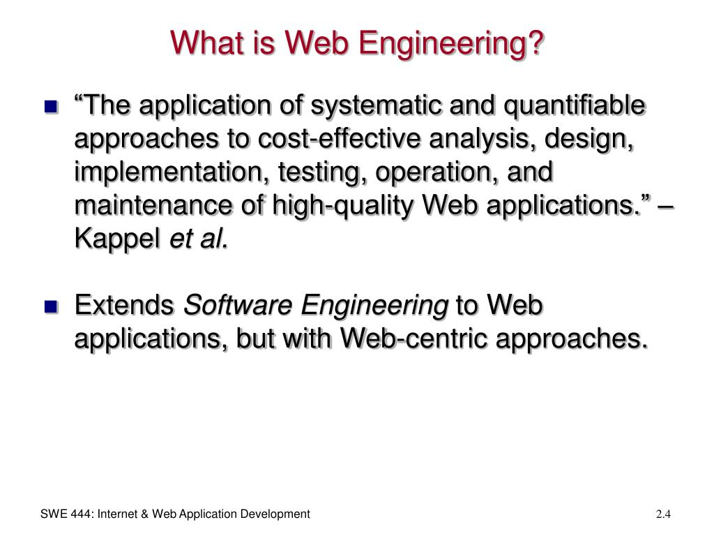 What is Web Engineering?