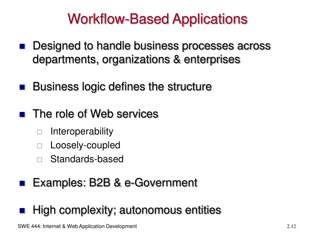 Workflow-Based Applications