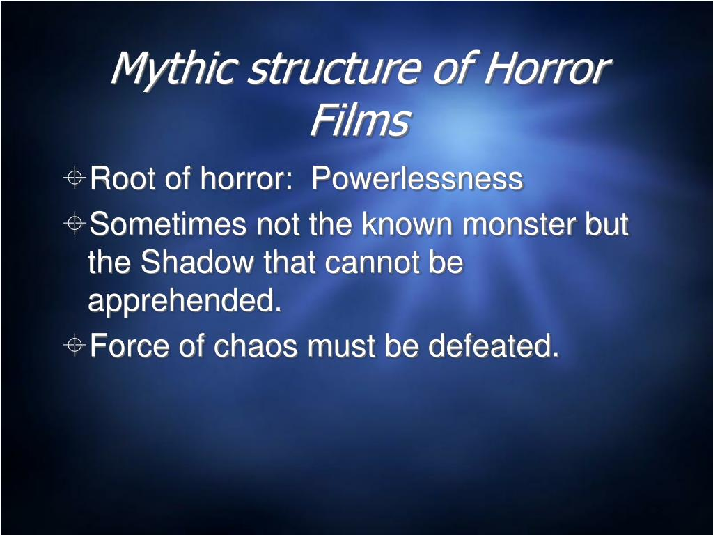 Mythic structure of Horror Films