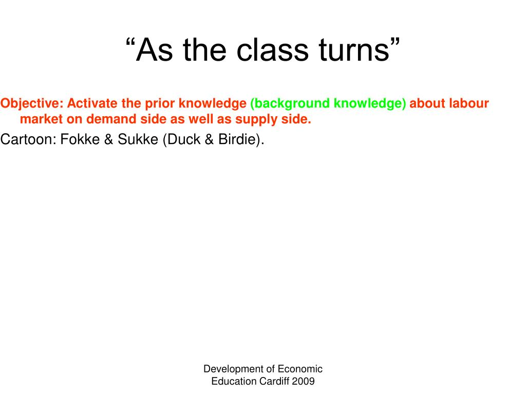 """""""As the class turns"""""""