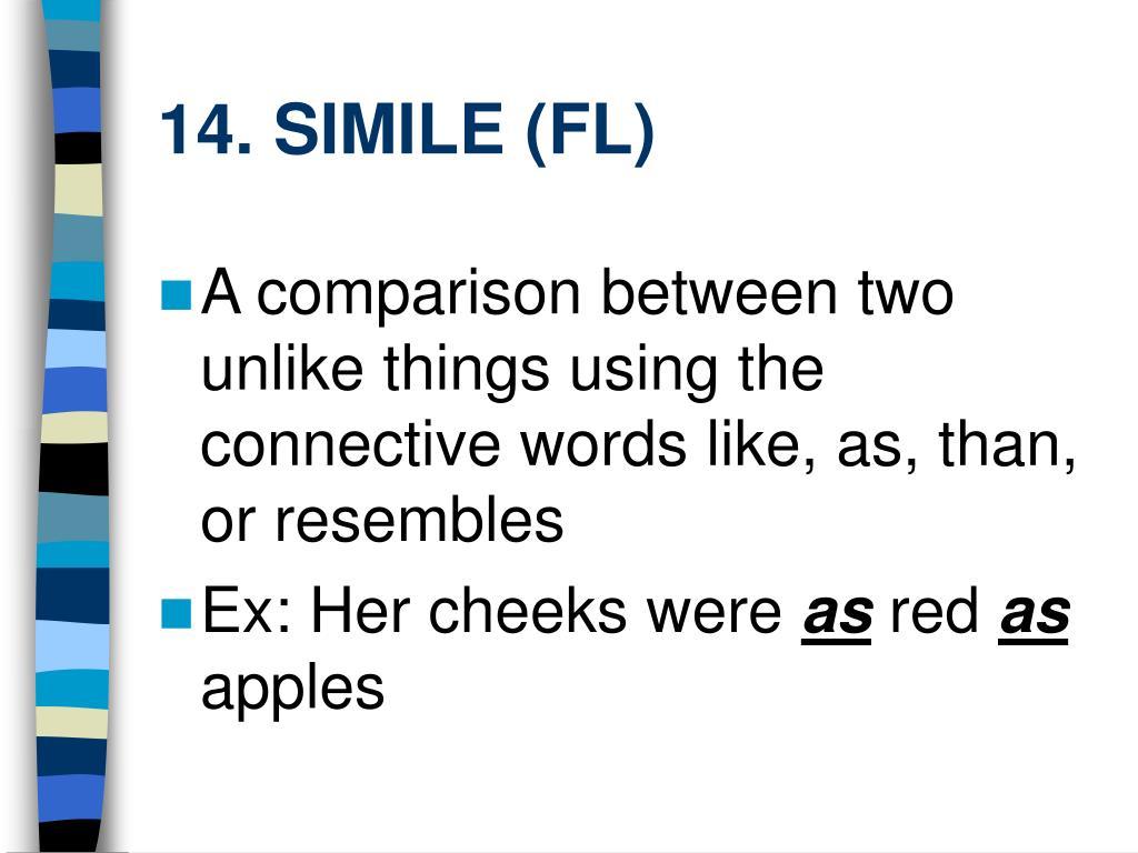 14. SIMILE (FL)