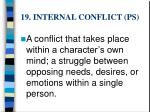 19 internal conflict ps