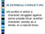 20 external conflict ps