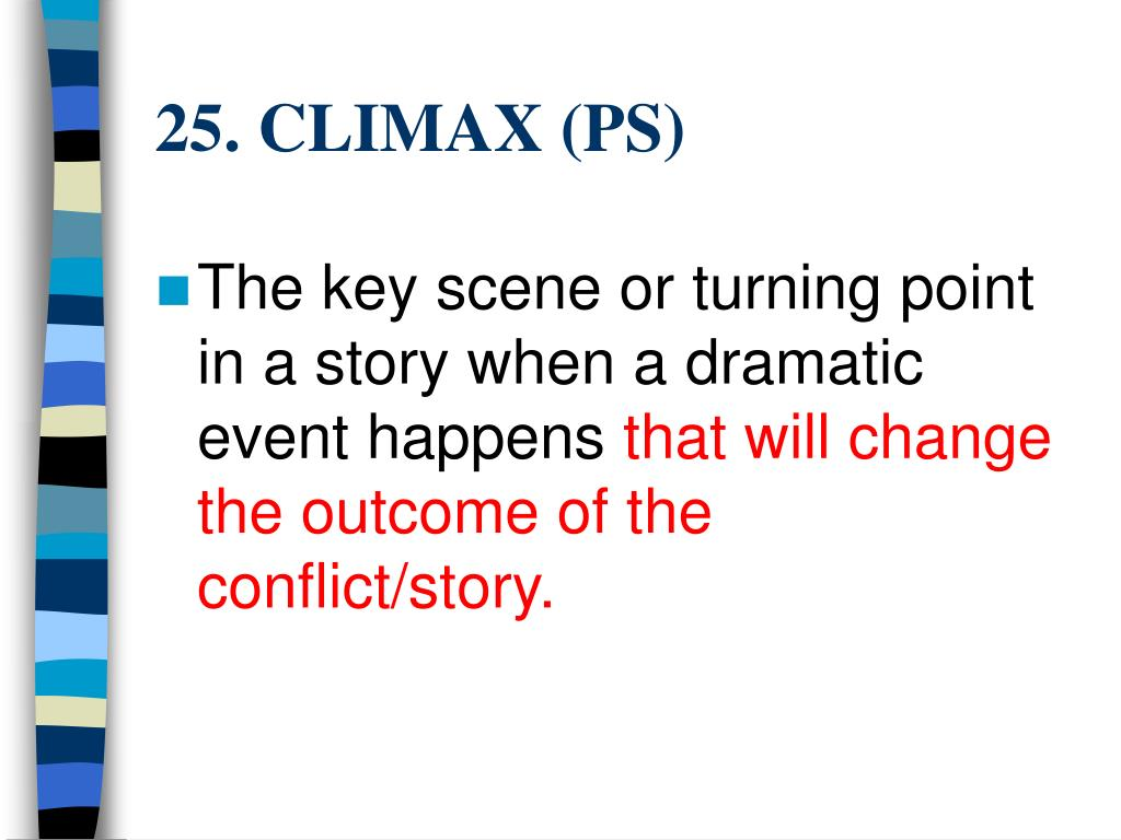 25. CLIMAX (PS)