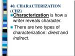 40 characterization chz