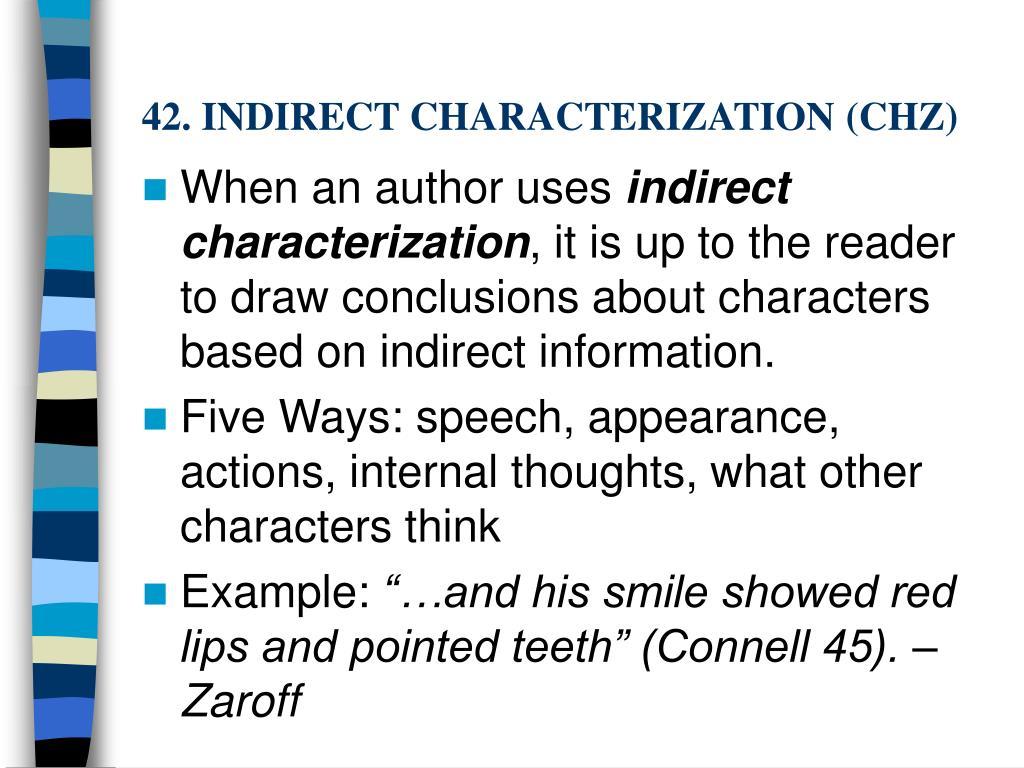 42. INDIRECT CHARACTERIZATION (CHZ)