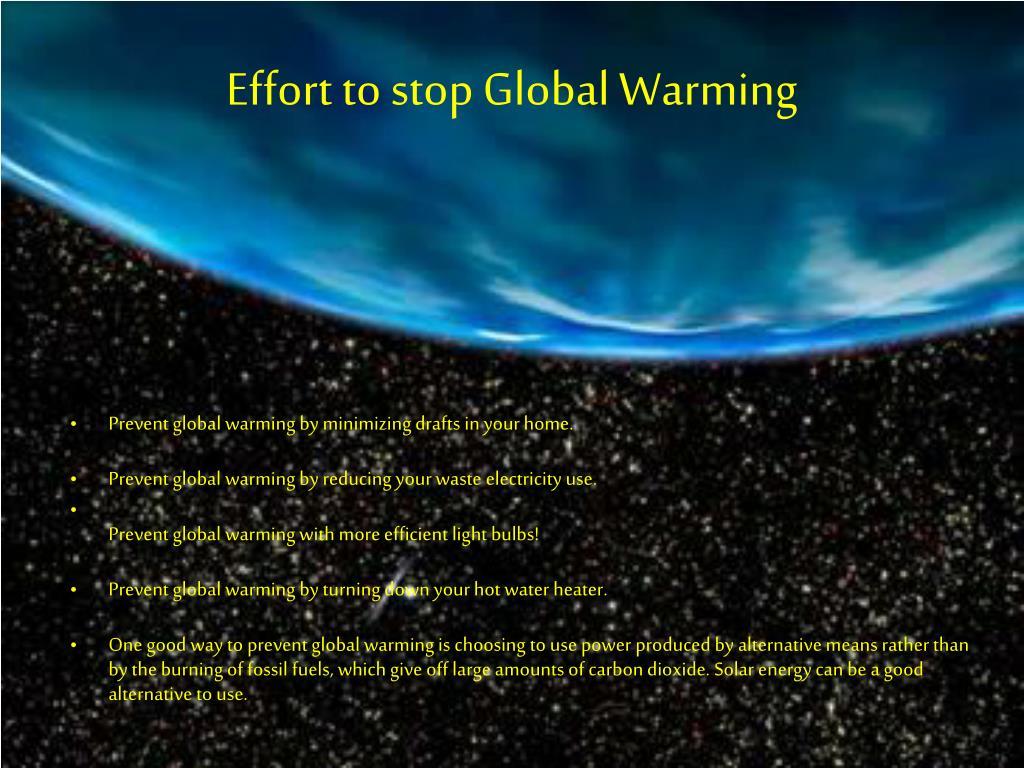 Ways to stop global warming