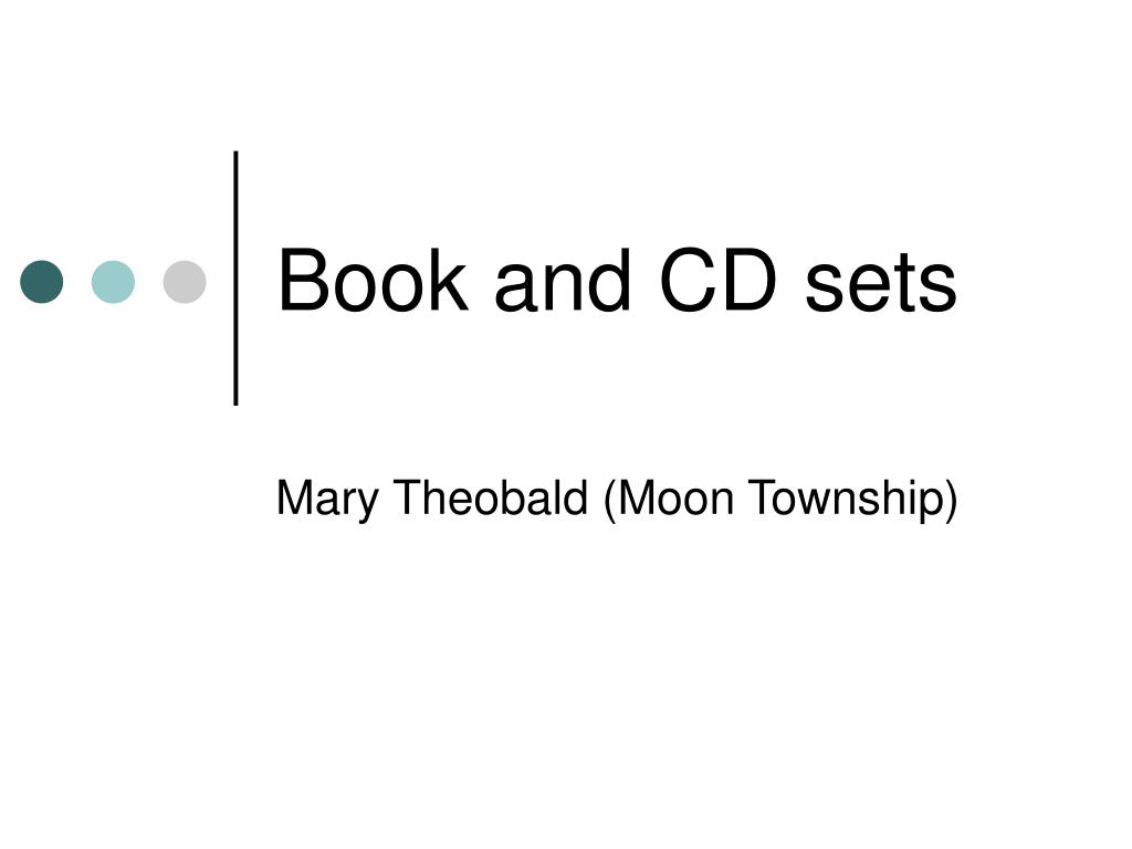 Book and CD sets