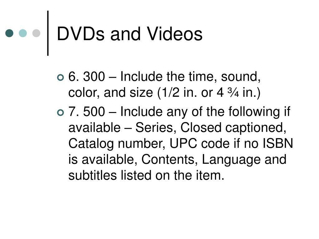 DVDs and Videos