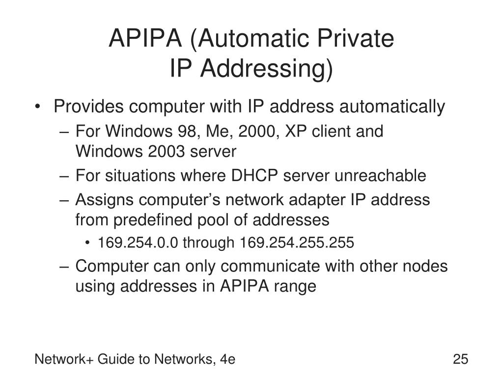 APIPA (Automatic Private