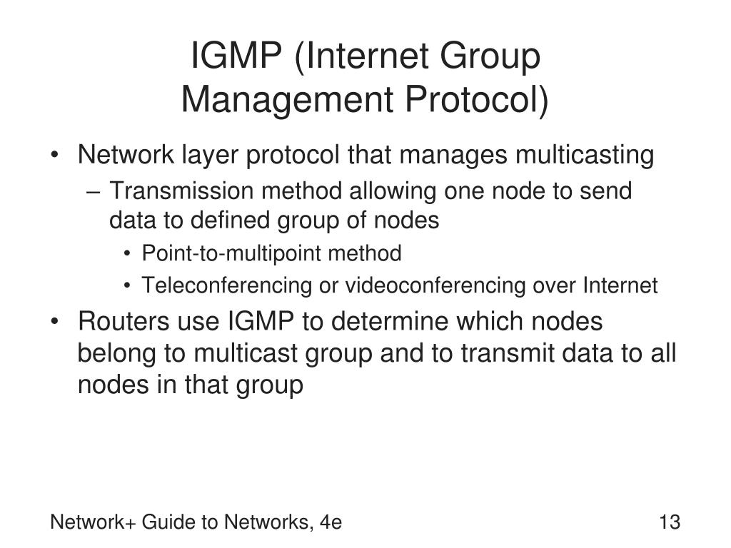 IGMP (Internet Group