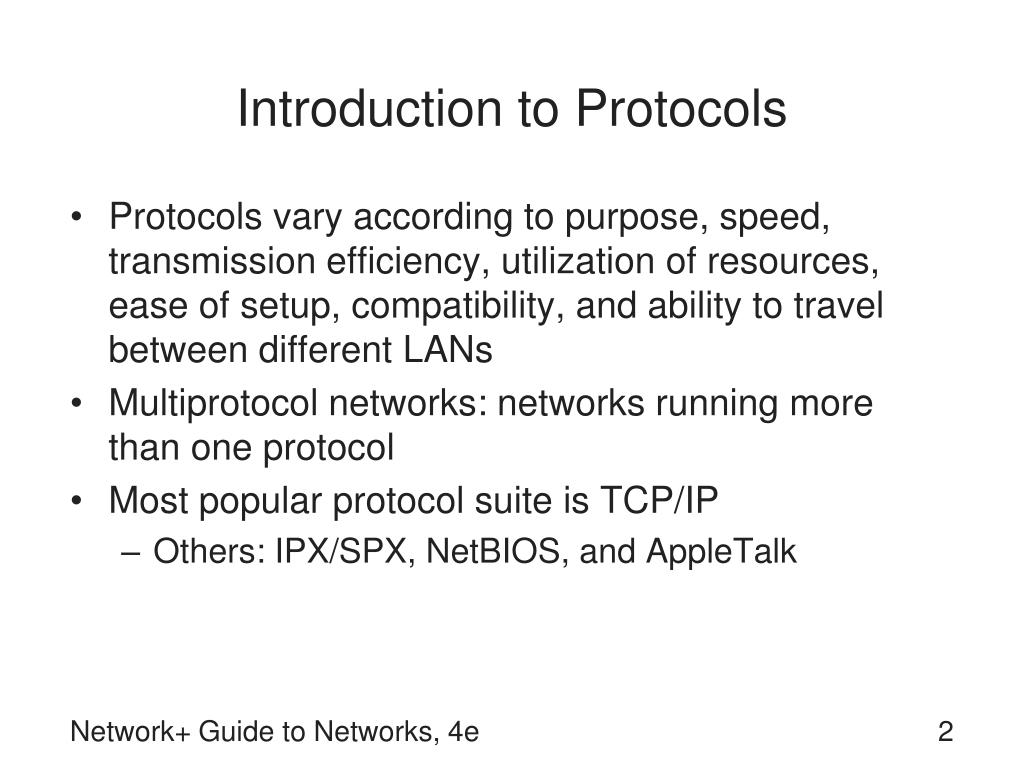 Introduction to Protocols