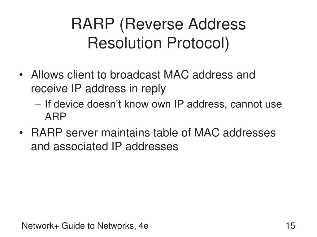 RARP (Reverse Address