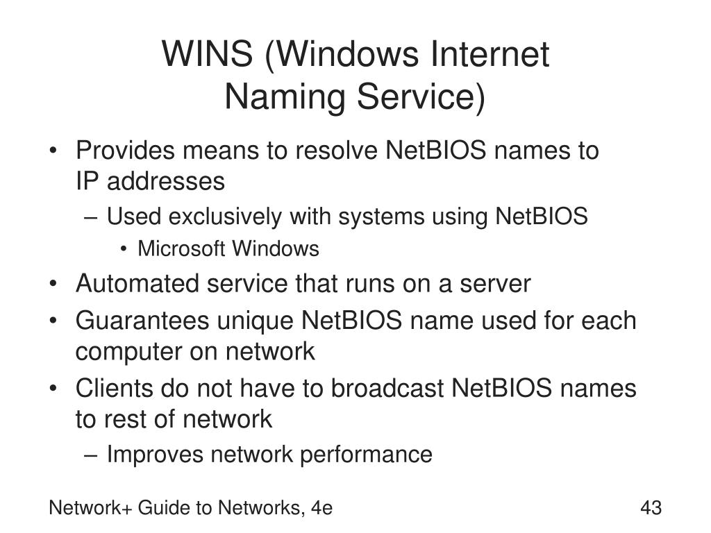 WINS (Windows Internet