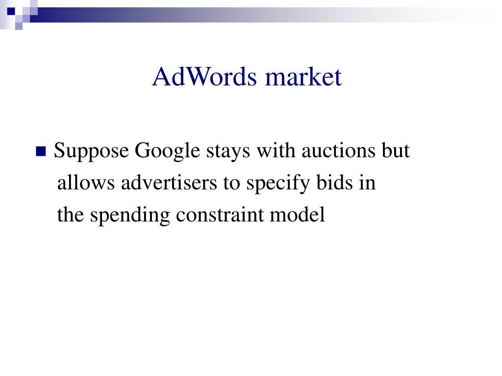 AdWords market